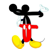 Original alfabeto inspirado en Mickey Mouse F.
