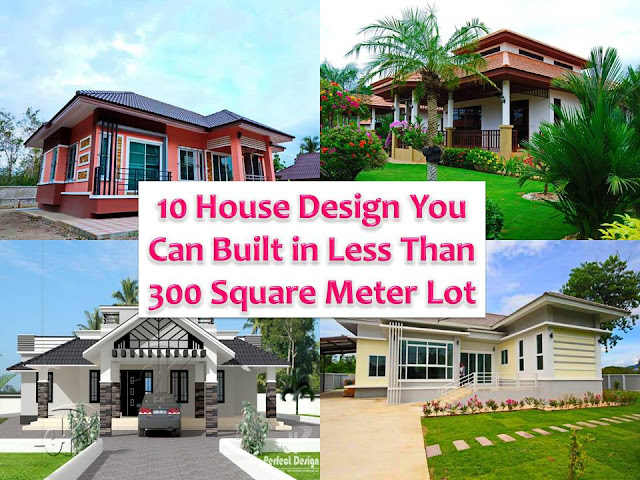 "We all know that ""first impressions last."" And it is not just applicable to the human being but also with houses. If a house is designed and well-planned, its beauty will stand out even it is built in a small or limited space. That is why choosing the right exterior design for your future home is considered as a very important undertaking. Here are 10 beautiful modern houses that can be built in less than 300 square meter lot. In pictures, we include some exterior photos, facade and floor plans of each house for your inspiration.  If you have 150 square meter lot and you decide to build your dream home, this home plan with three bedrooms is for you. This is designed to be built in 1,592 square feet or 148 square meters."