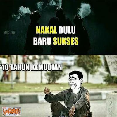 10 Meme 'Nakal Dulu Baru Sukses' Ini Nyindir Kids Zaman Now, Bikin Ngakak!