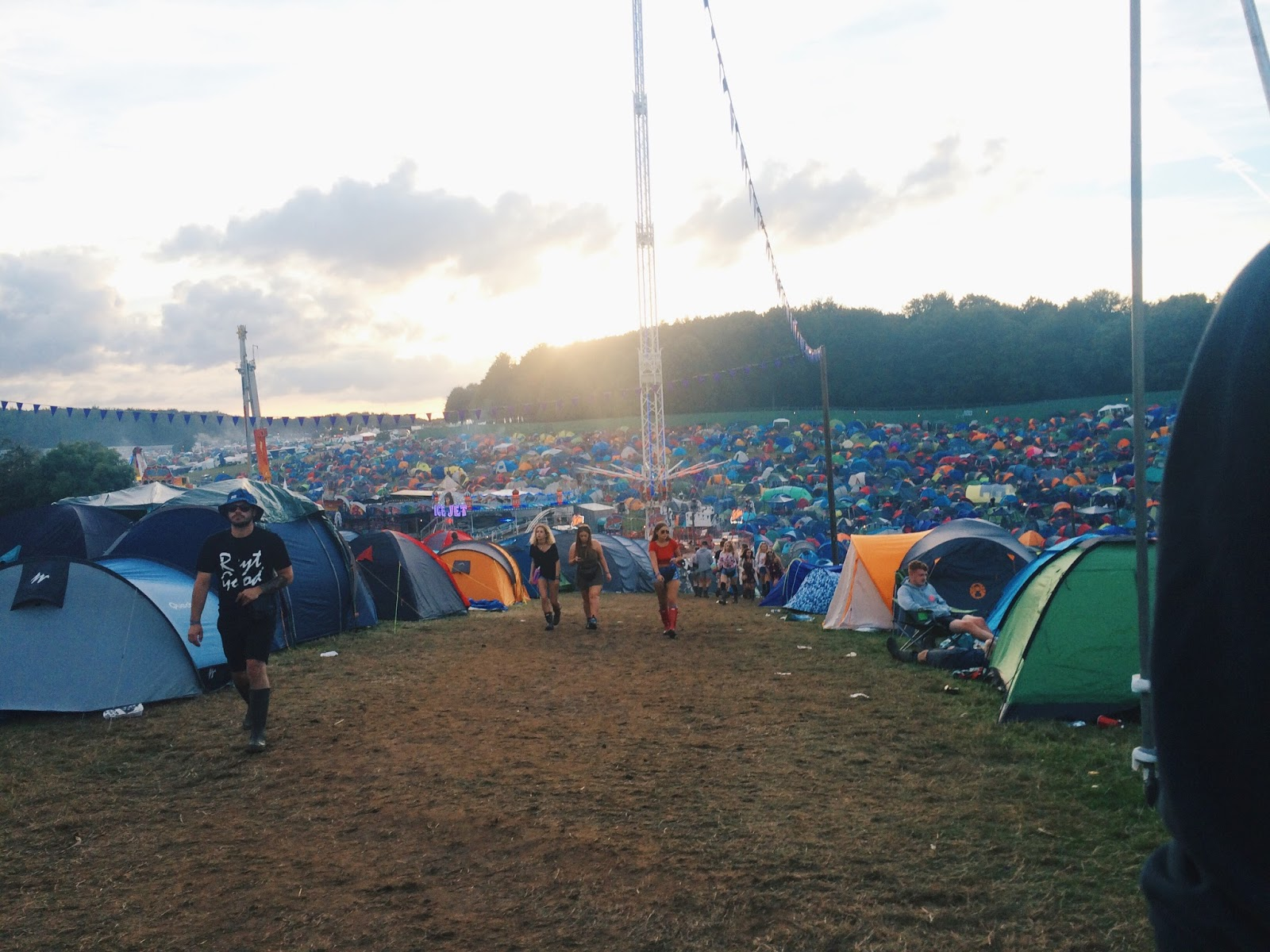 Leeds Festival 2016 Purple Camp from  the hill