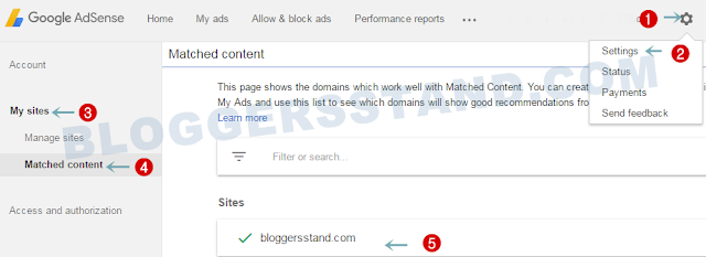 how to check website is eligible for adsense matched content ads or not