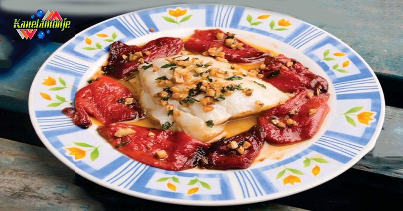 Bacalao con pimientos del piquillo kanelamonje recetas for Como cocinar lomos de bacalao