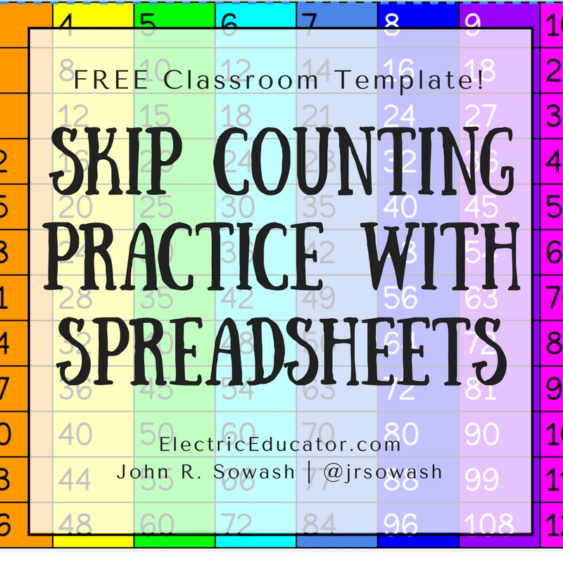 The Electric Educator: Skip Counting with Spreadsheets