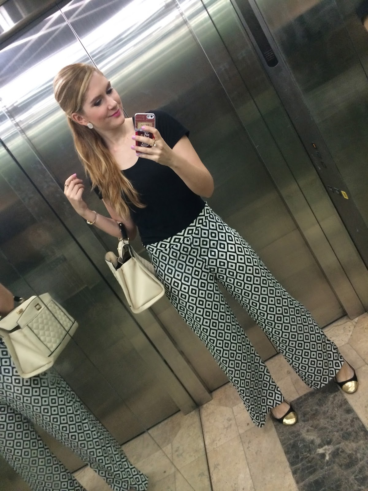 Wear patterned pants to work to show your personality!