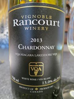 Rancourt Chardonnay 2013 - VQA Niagara Lakeshore, Niagara Peninsula, Ontario, Canada (86 pts)