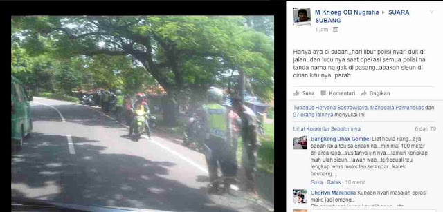 Netizen Sebut Polisi Subang Tiap Hari Lakukan Tilang, Tak Terkecuali Hari Libur