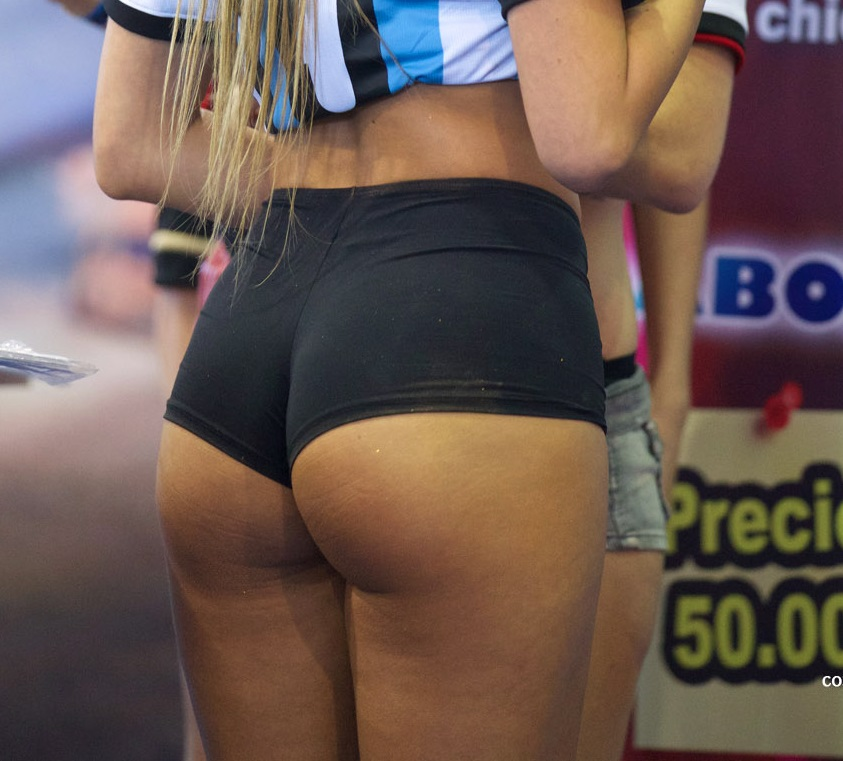 Ass In Spandex Shorts 119