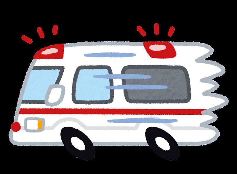 急ぐ救急車のイラスト | かわいいフリー素材集 いらすとや