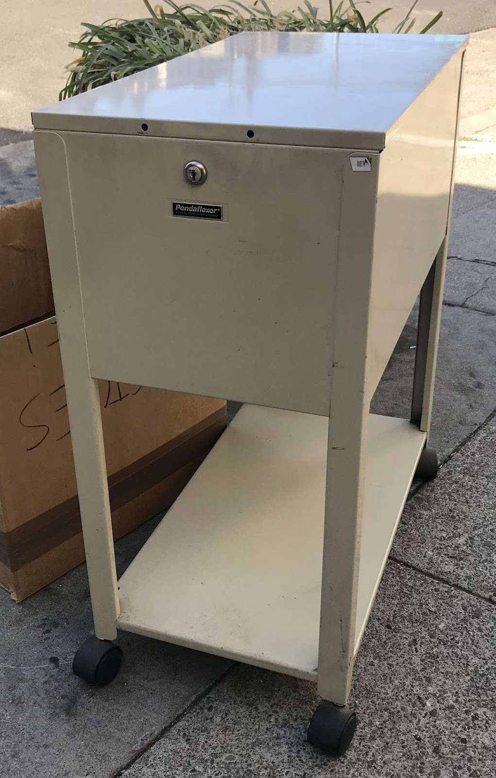Sold 19515 Panda Flexer Top Loading Hanging File Cabinet On Wheels 20