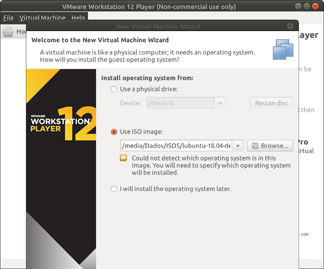 Máquina Virtual: Instalando e configurando o VMware Player - Dicas Linux e Windows
