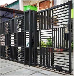 bentuk pagar rumah minimalis keren