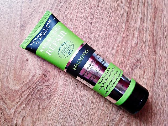 PERFECT.ME, Natural Oils Repair - Szampon odbudowujący do włosów suchych, szorstkich i zniszczonych, opakowanie