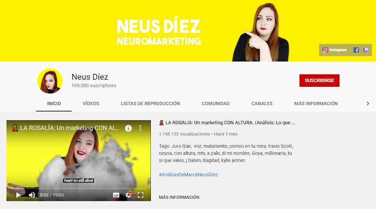 Canal de Neus Díez en Youtube