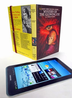 tablet case made from Nancy Drew book