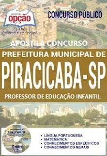 Apostila PDF Prefeitura de Piracicaba Professor de Educação Infantil