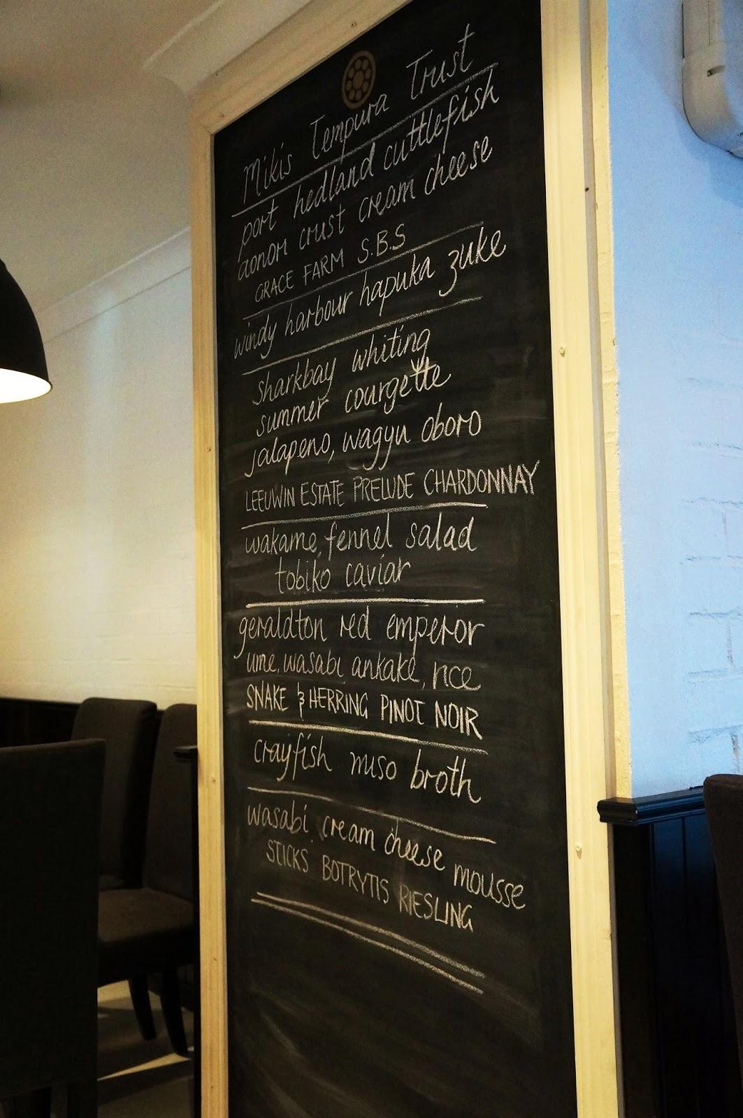 Mikis Open Kitchen Margaret River Menu