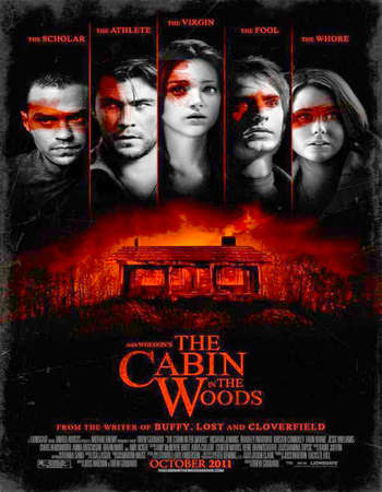 The Cabin in the Woods 2012 Hindi Dual Audio 400MB BluRay 720p ESubs HEVC