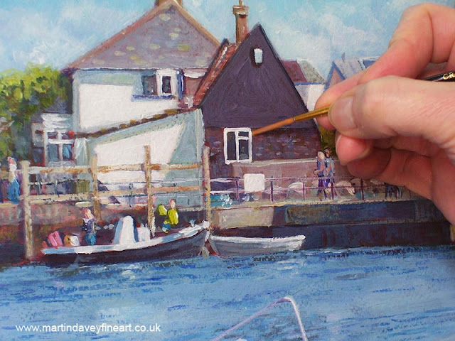 Martin Davey WIP mudeford christchurch harbour art