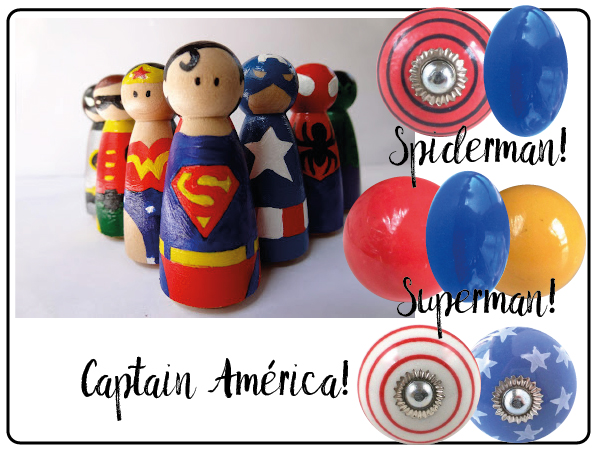 bouton de meuble super heros