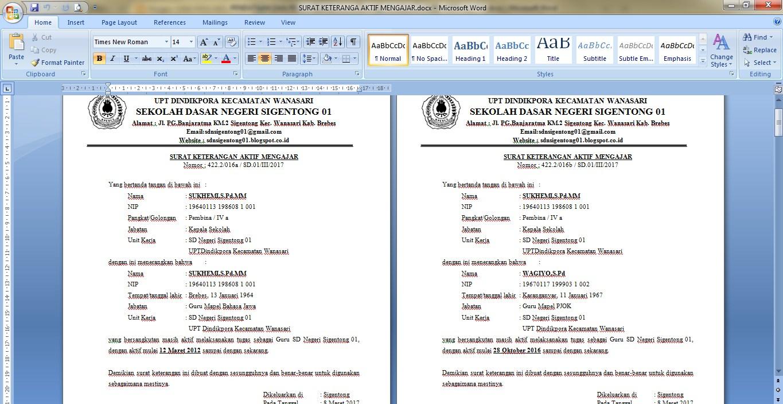 Berkas Pengajuan Aneka Tunjangan Untuk Gtt Gty Ptt Dan Pty