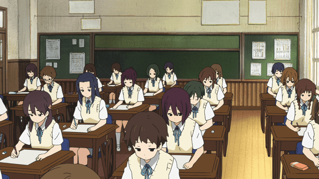 suasana kelas di anime k-on