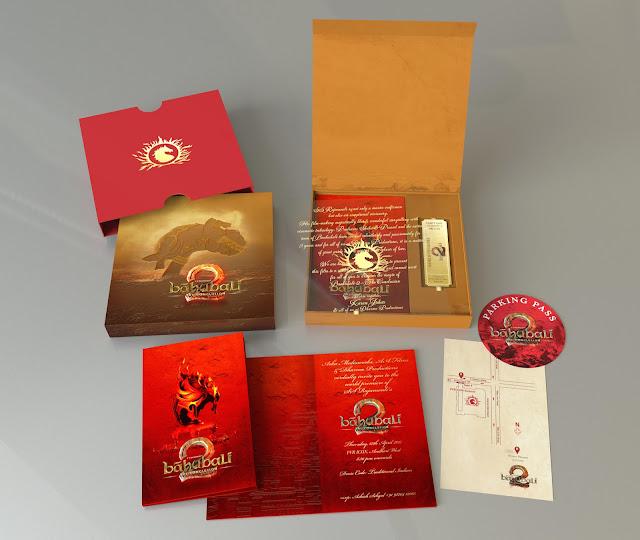 Bahubali 2 World Premier Invite designed by EDC