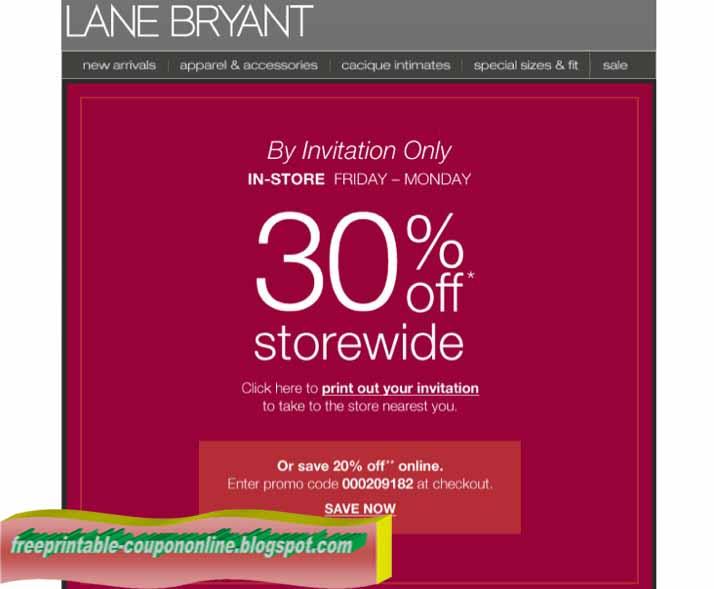 Lane bryant coupon code 2019