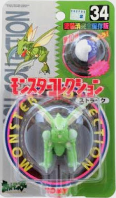 Scyther Pokemon figure Tomy Monster Collection series