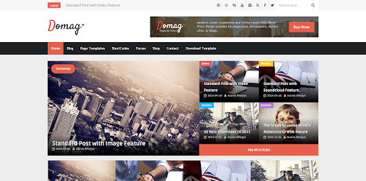 Domag Responsive Blogger Template