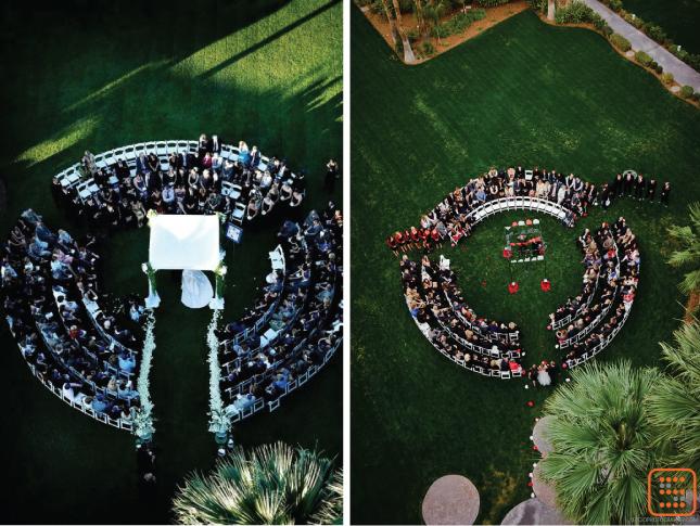 Circle Seating Arrangement For Beach Wedding: Round Ceremony Set-Ups