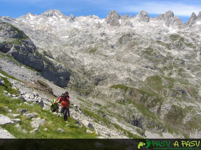 Macizo Central de Picos de Europa en la subida al Escamellau