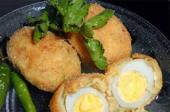 Cooking Recipe Potato Croquettes Filled Quail Eggs