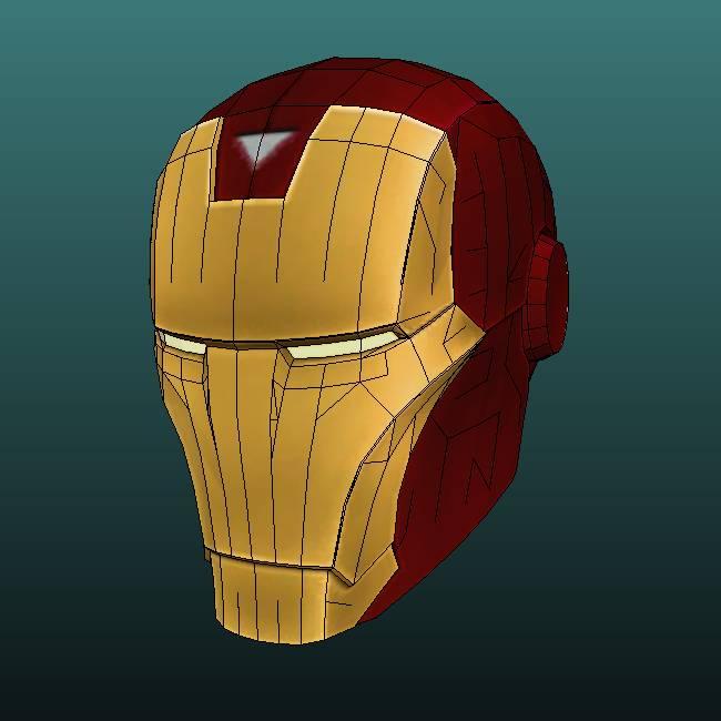 Iron Man Helmet Papercraft Marvel Vs Capcom 3