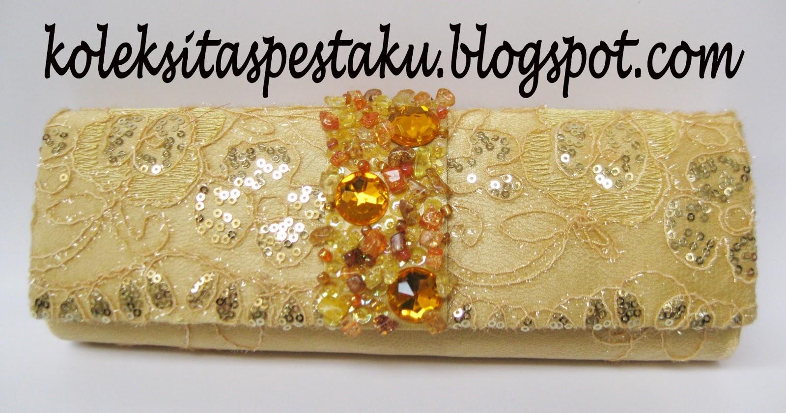 Model Terbaru Tas Pesta - Clutch Bag Bulan April 2013 Warna Gold (SOLD OUT) fb8465c212