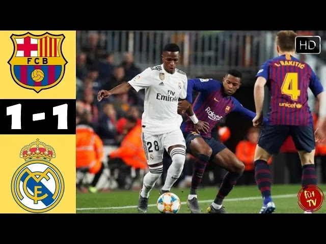 Barcelona vs Real Madrid 1-1 Football Highlights and Goals 2019