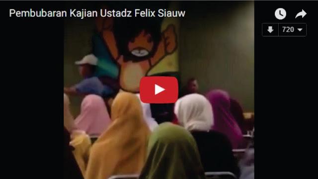 Eksklusive! Ini Detik-detik Video Pembubaran Kajian Ustadz Felixsiauw Oleh Polisi, Ingin Do'a Saja tak Diizinkan, Negri Apa Ini?