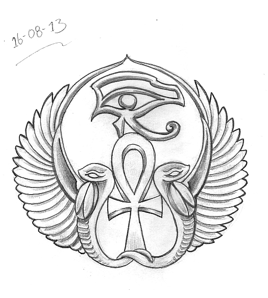 Tattoo Sketch A Day: Egyptian August 15th - 21st