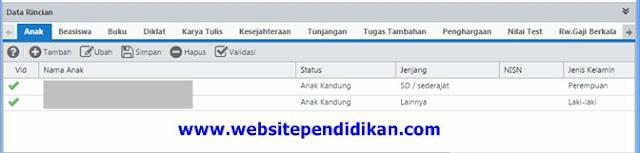 Cara Mengisi Data Rincian PTK di Dapodik