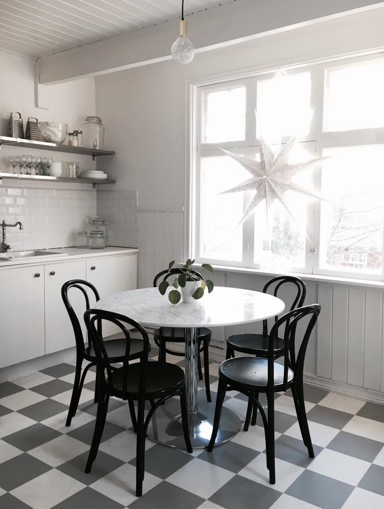 vinylmatta, rutig, öglan stolar, tarkett