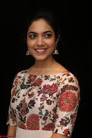 Ritu Varma smiling face Cream Anarkali dress at launch of OPPO New Selfie Camera F3 ~  Exclusive 041.JPG