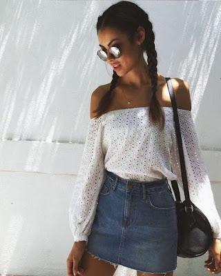 outfit de verano de dos piezas tumblr casual