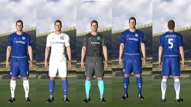 PES 2017 Chelsea Leaked Kits 17/18 by ar11