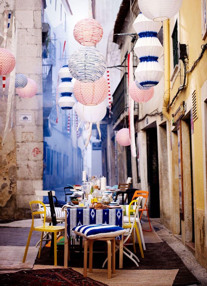 Comida al aire libre en la ciudad