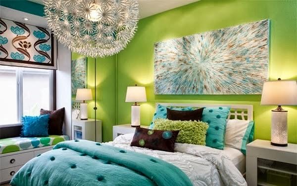 warna cat kamar tidur hijau terang 5