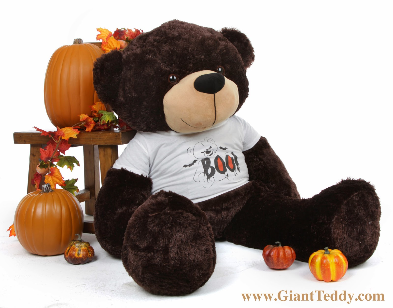 48 inch Brownie Cuddles Boo! Bear for Halloween - he's a BIG bear!
