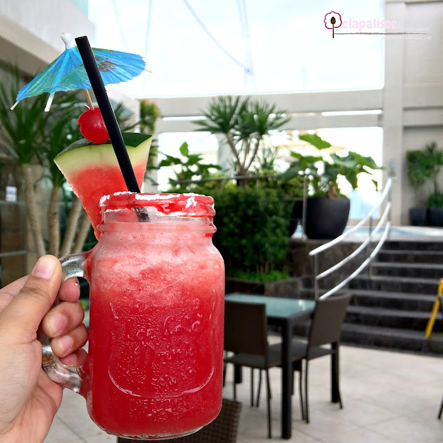 Watermelon Slushie from Encima Roofdeck Restaurant