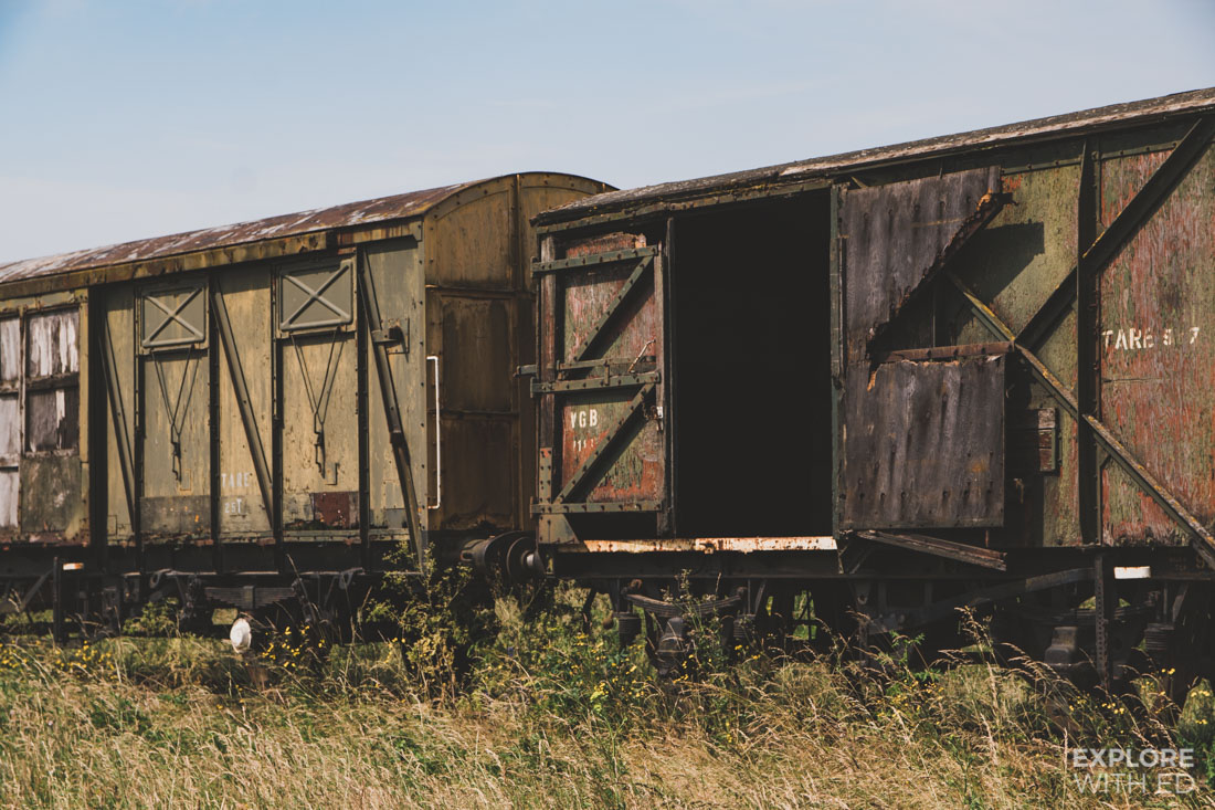 Abandoned trains on the Salisbury Plains