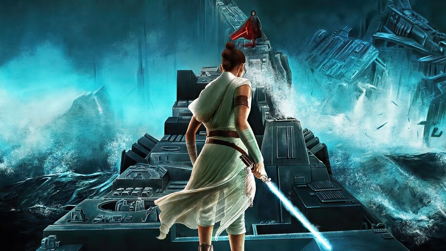 Rey vs Kylo Ren, Star Wars The Rise of Skywalker, Poster, 4K, #7.709