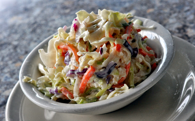 Coleslaw - Rod & Reel Pier Restaurant - Anna Maria, FL | Taste As You Go