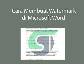membuat watermark di microsoft word